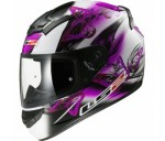 ШЛЕМ (ИНТЕГРАЛ) LS2 FF352 ROOKIE FLUTTER, WHITE PURPLE