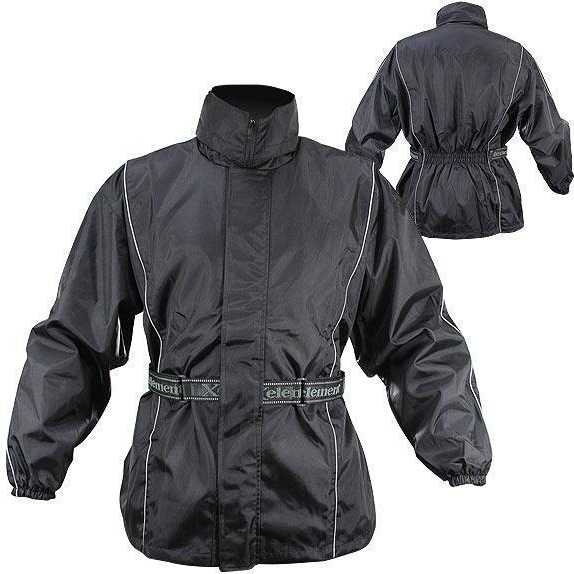 Xelement Men's 2 Piece Black Motorcycle Rain Suit with Boot Strap RN4760