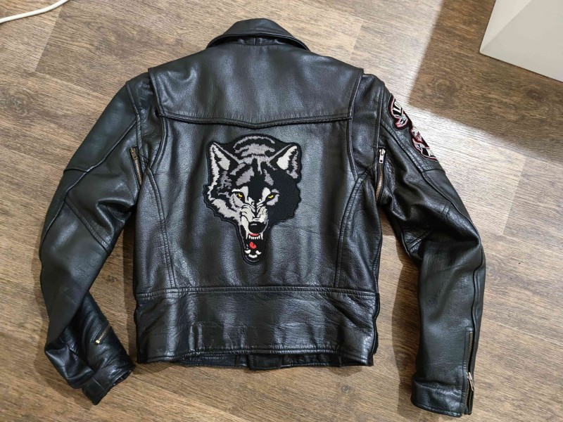 Mens Vented M.C.Jacket Buffalo Leather AL2014